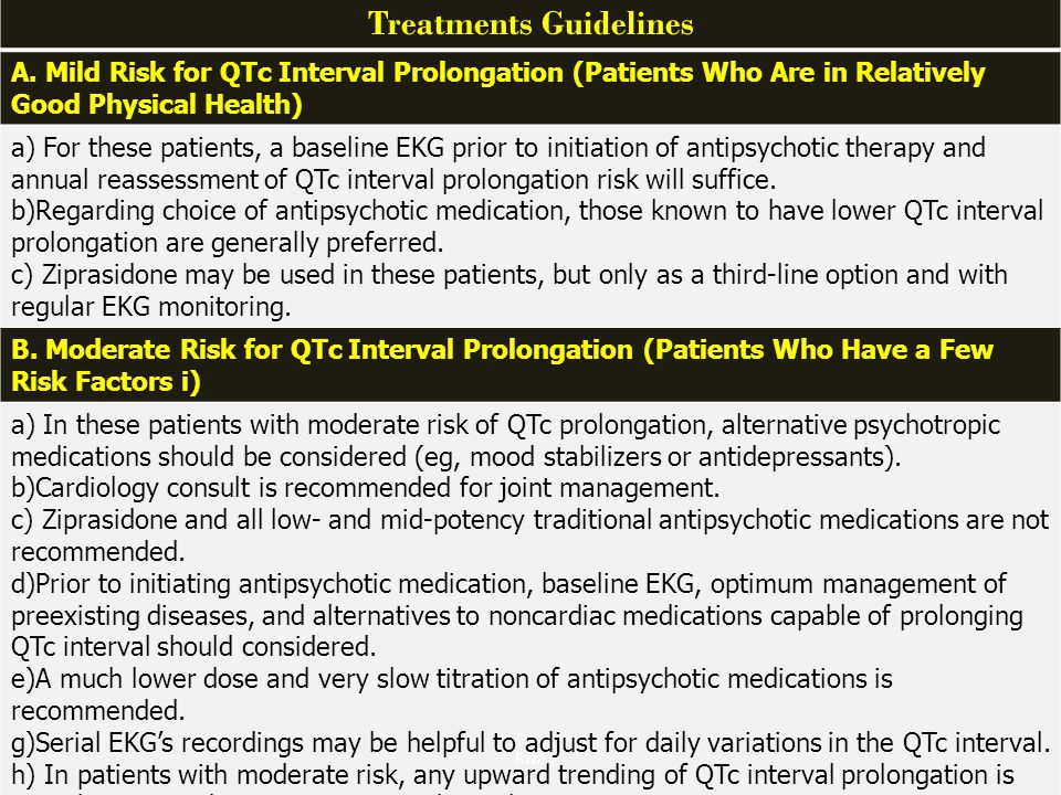 Treatments Guidelines