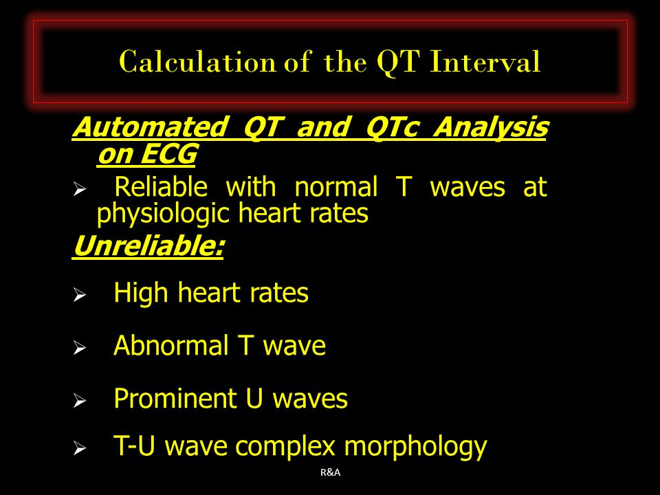 Calculation of the QT Interval