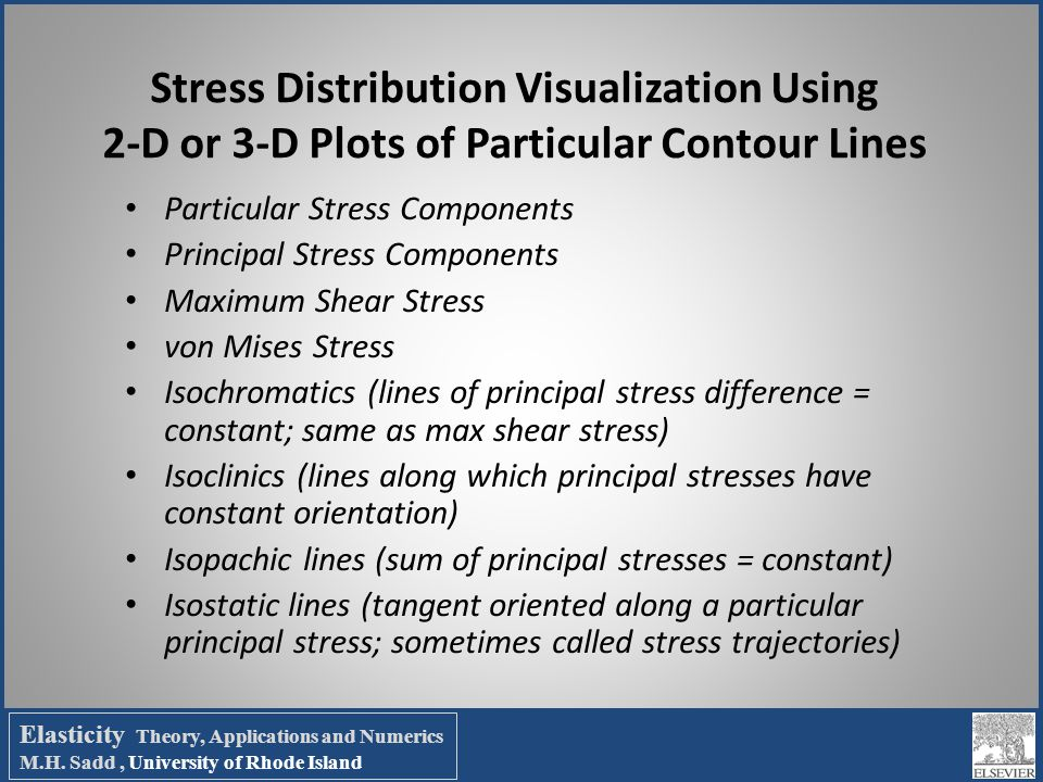 Stress Distribution Visualization Using 2-D or 3-D Plots of Particular Contour Lines