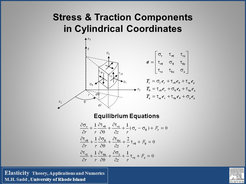 Stress & Traction Components in Cylindrical Coordinates