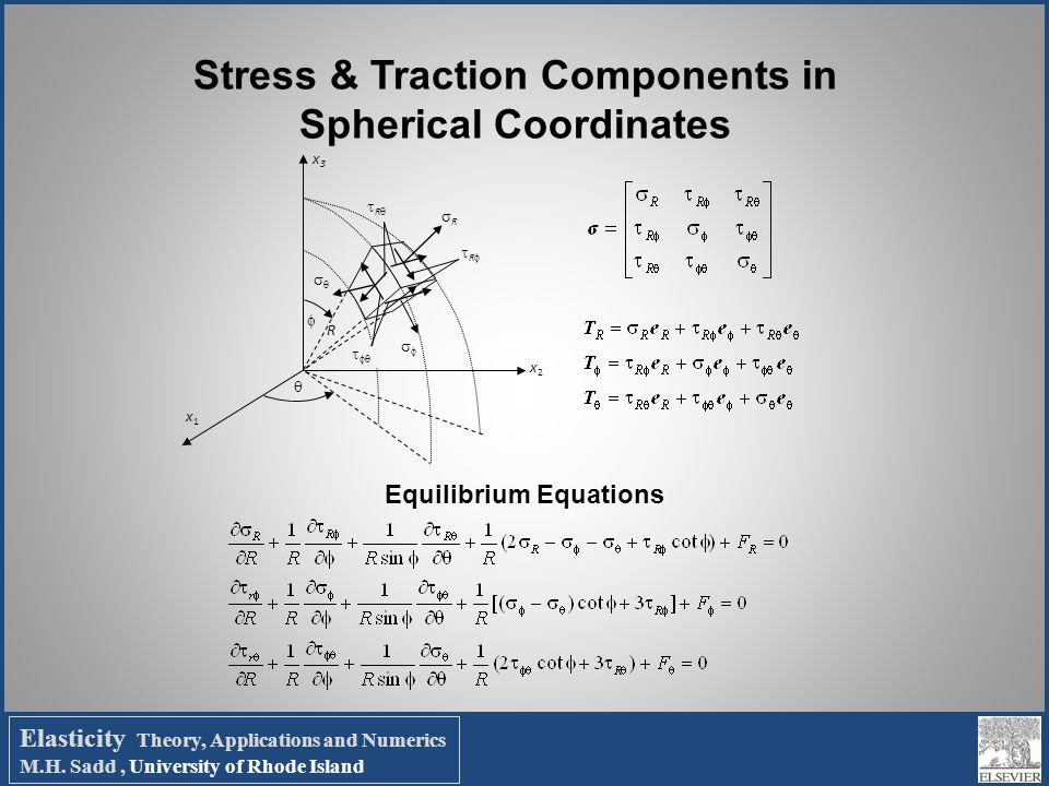 Stress & Traction Components in Spherical Coordinates