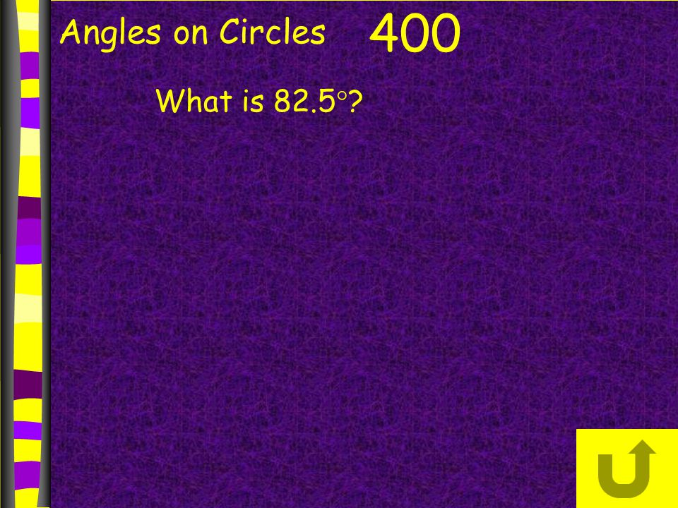 Angles on Circles 400 What is 82.5