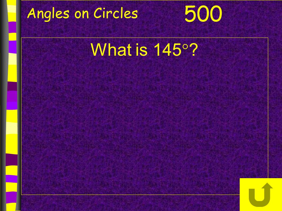 Angles on Circles 500 What is 145