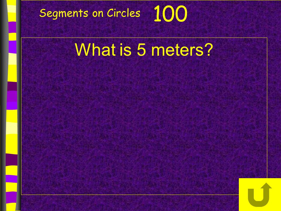 Segments on Circles 100 What is 5 meters