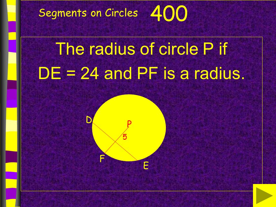 The radius of circle P if