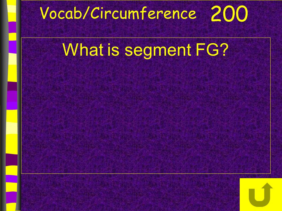 Vocab/Circumference 200 What is segment FG