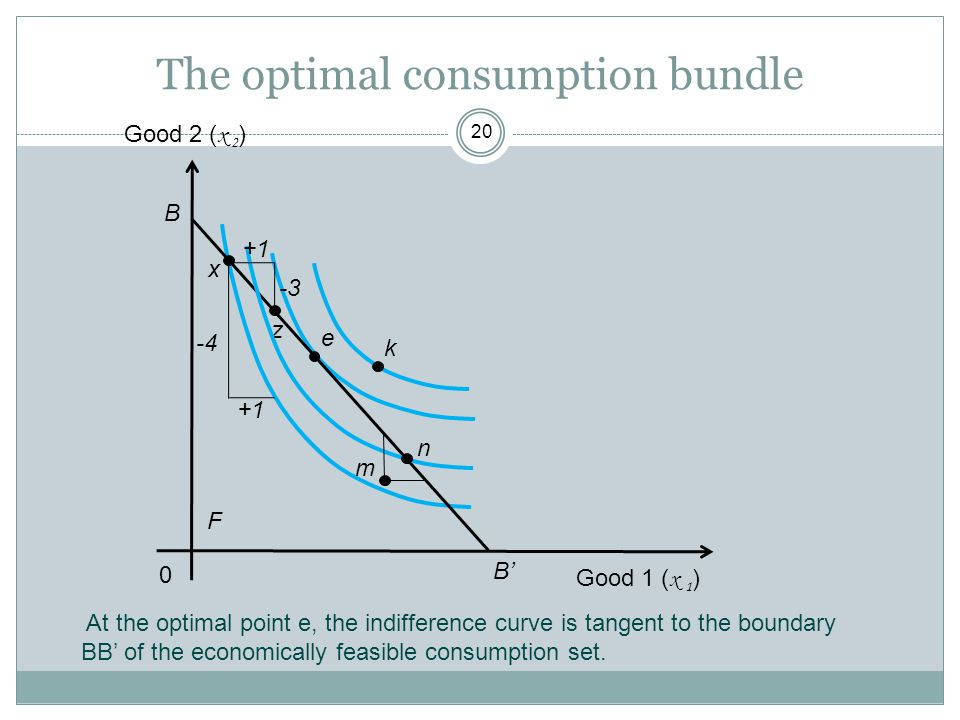 The optimal consumption bundle