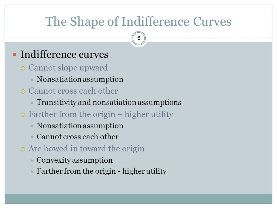 The Shape of Indifference Curves