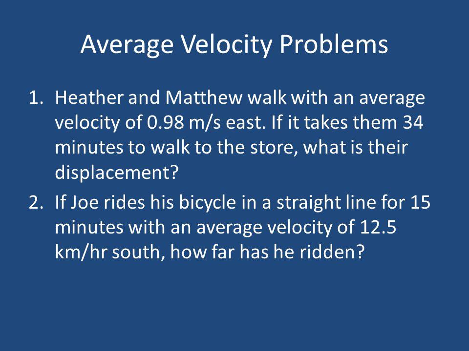 Average Velocity Problems