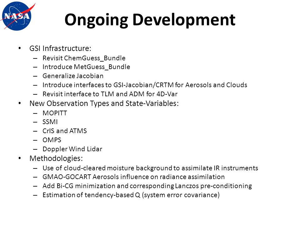 Ongoing Development GSI Infrastructure: