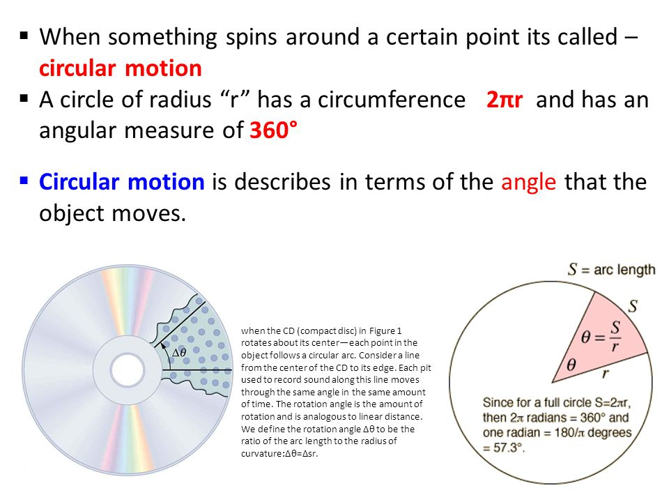 When something spins around a certain point its called – circular motion