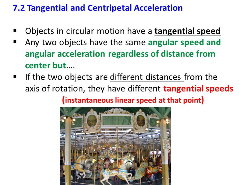 7.2 Tangential and Centripetal Acceleration