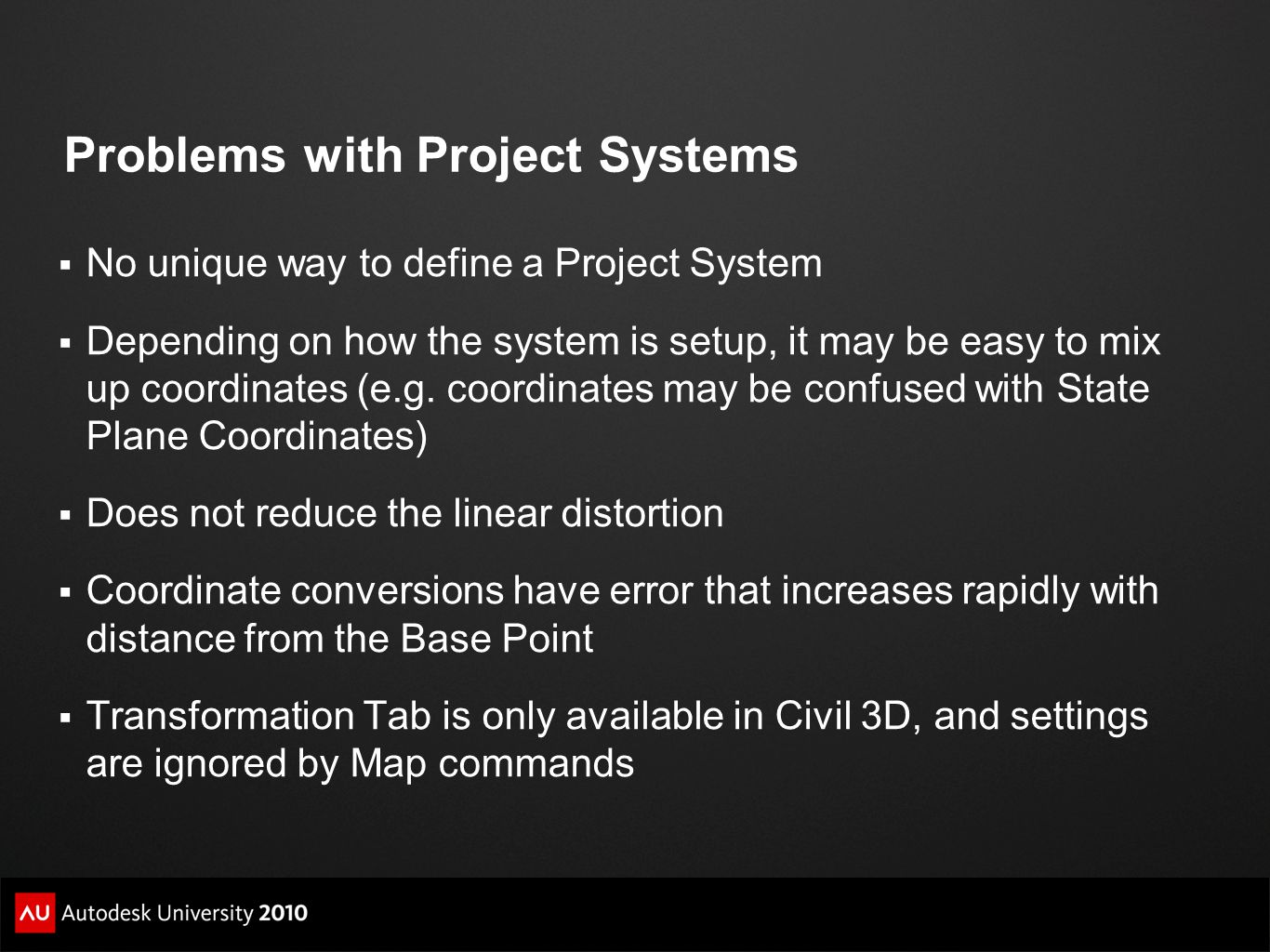 Problems with Project Systems