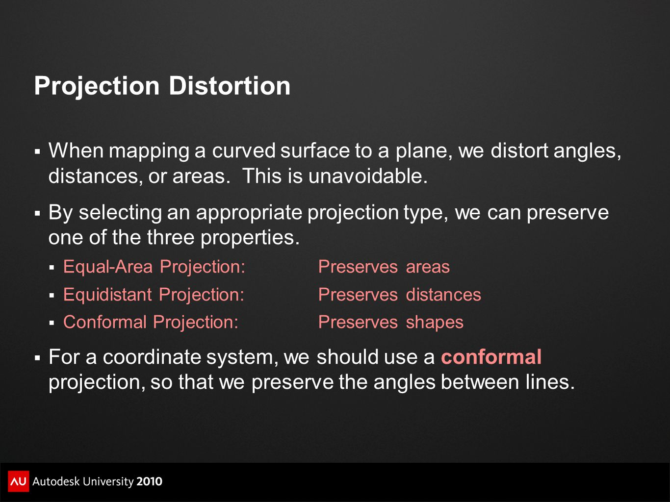 Projection Distortion