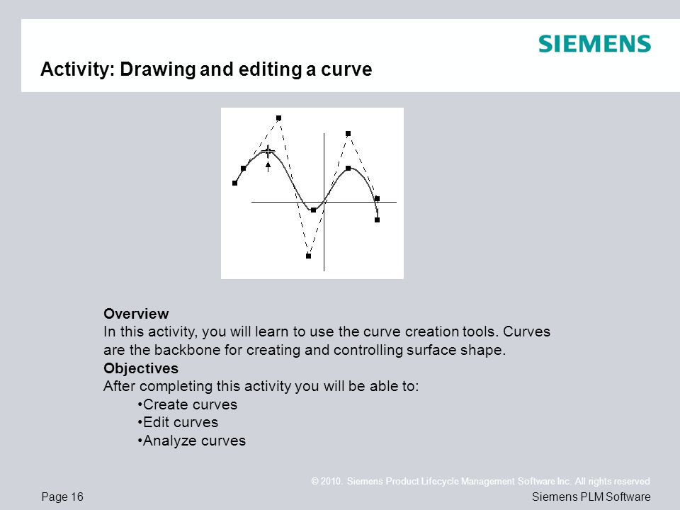 Activity: Drawing and editing a curve