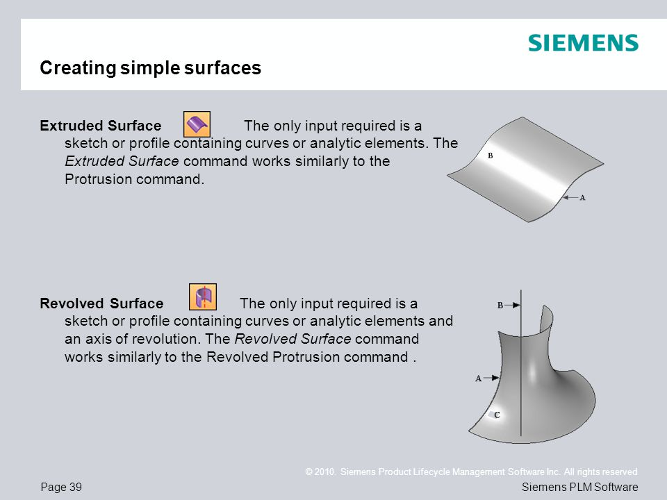 Creating simple surfaces