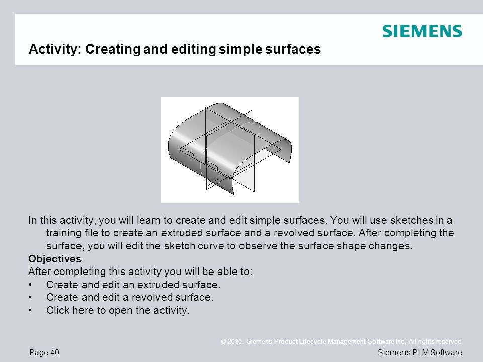 Activity: Creating and editing simple surfaces