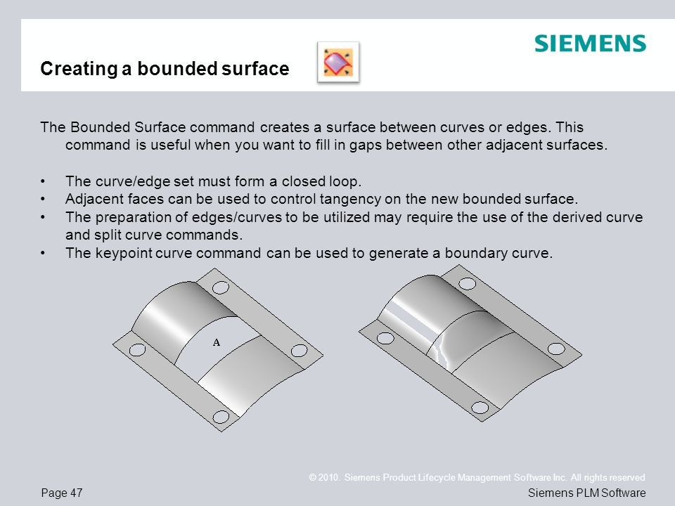 Creating a bounded surface