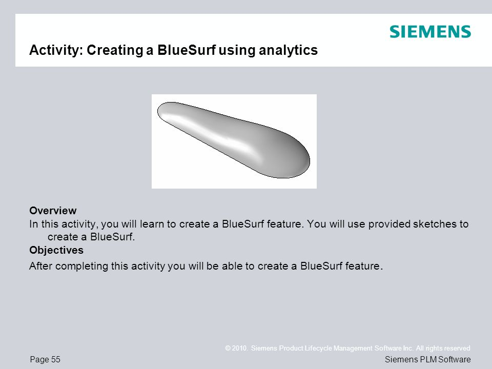 Activity: Creating a BlueSurf using analytics