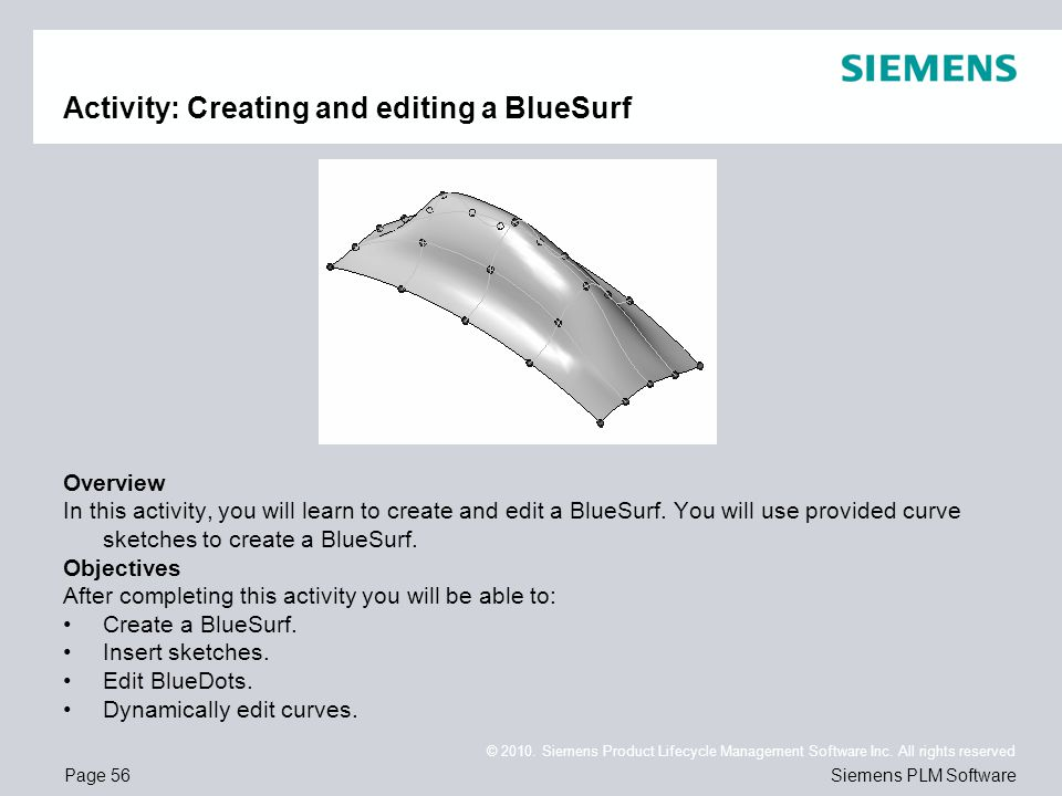 Activity: Creating and editing a BlueSurf