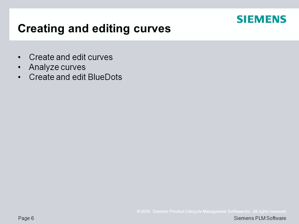 Creating and editing curves