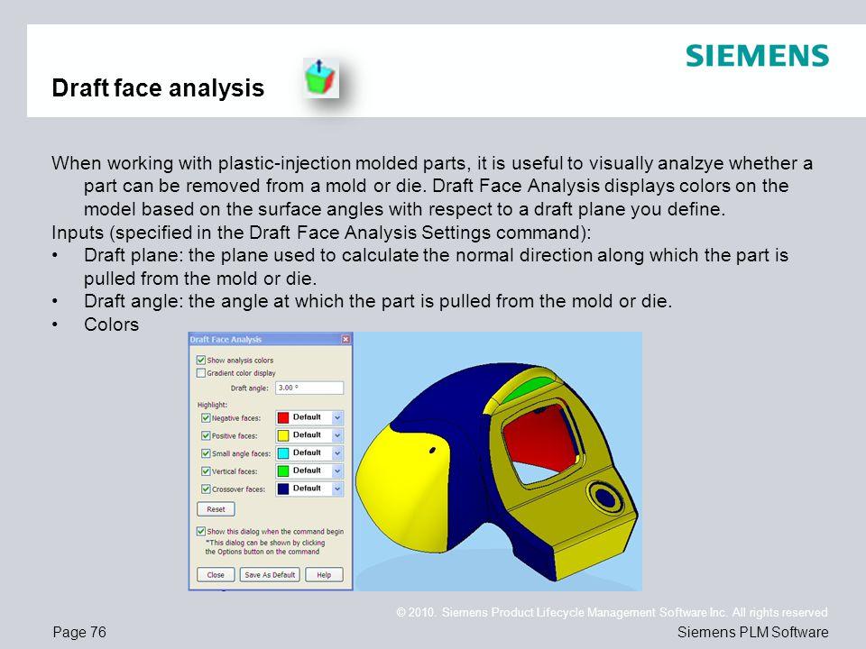 Draft face analysis