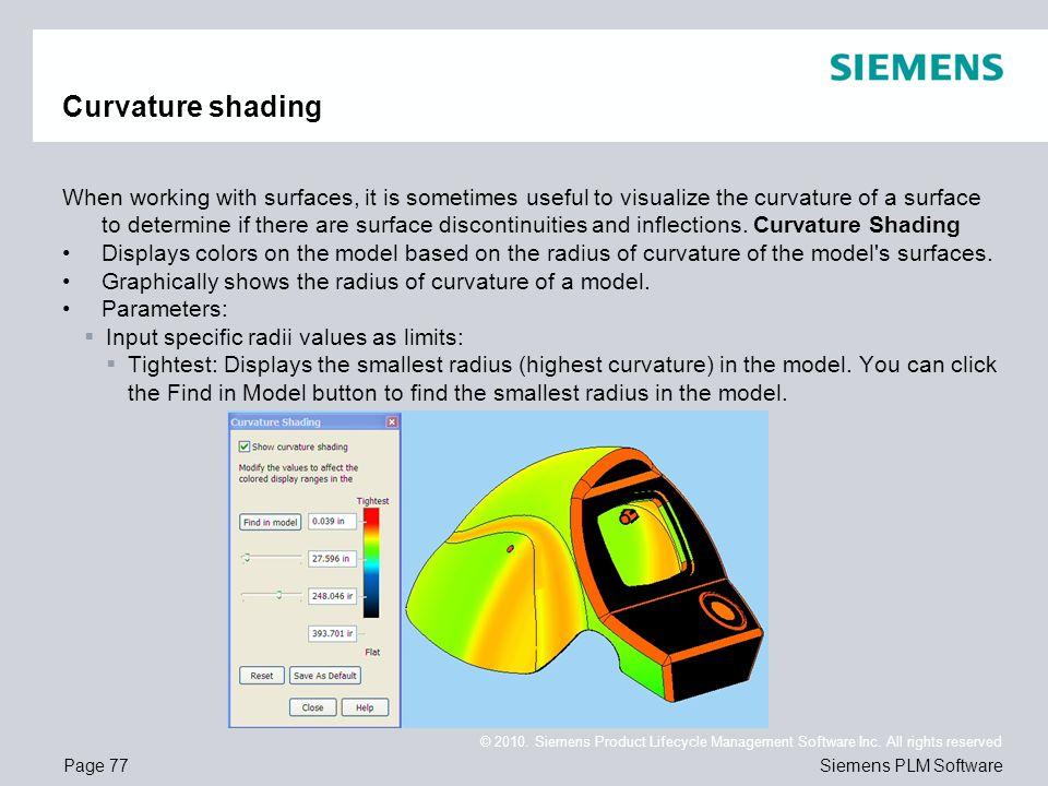 Curvature shading