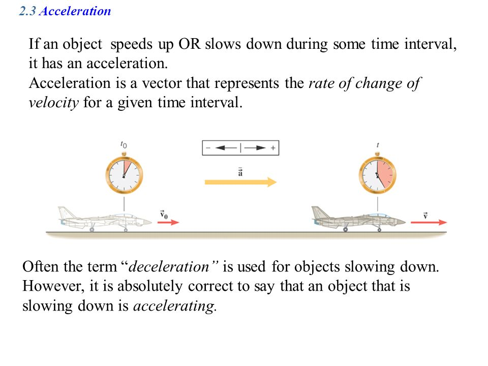 Often the term deceleration is used for objects slowing down.