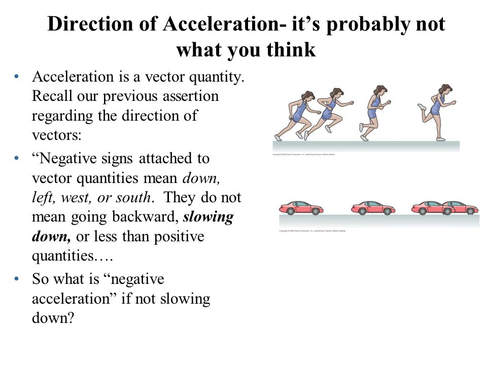 Direction of Acceleration- it's probably not what you think
