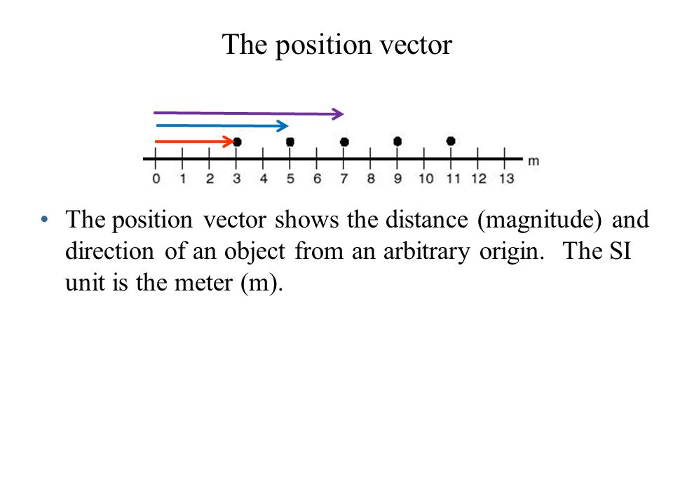 The position vector
