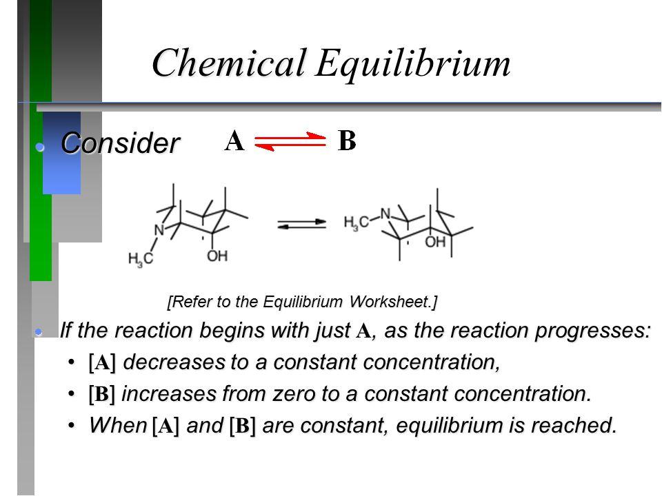 Chemical Equilibrium Consider