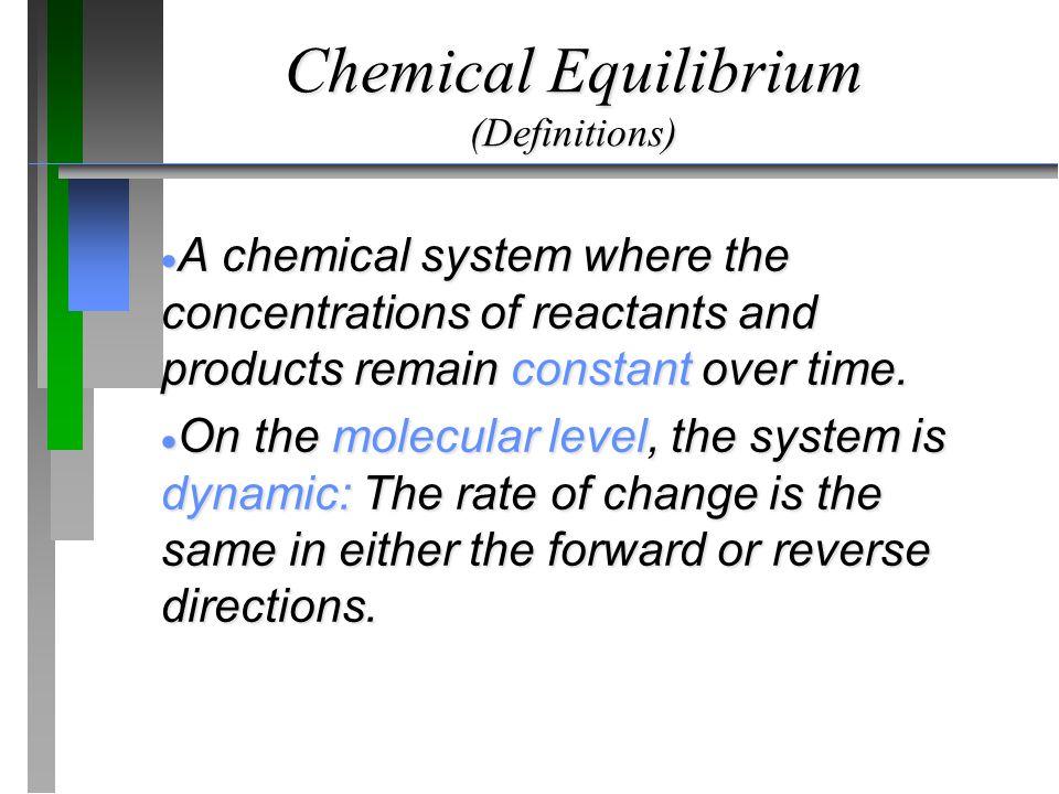 Chemical Equilibrium (Definitions)