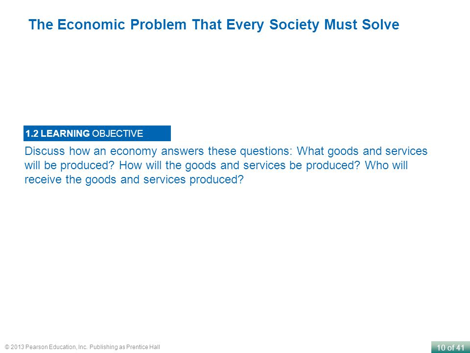 The Economic Problem That Every Society Must Solve