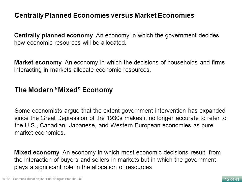 Centrally Planned Economies versus Market Economies