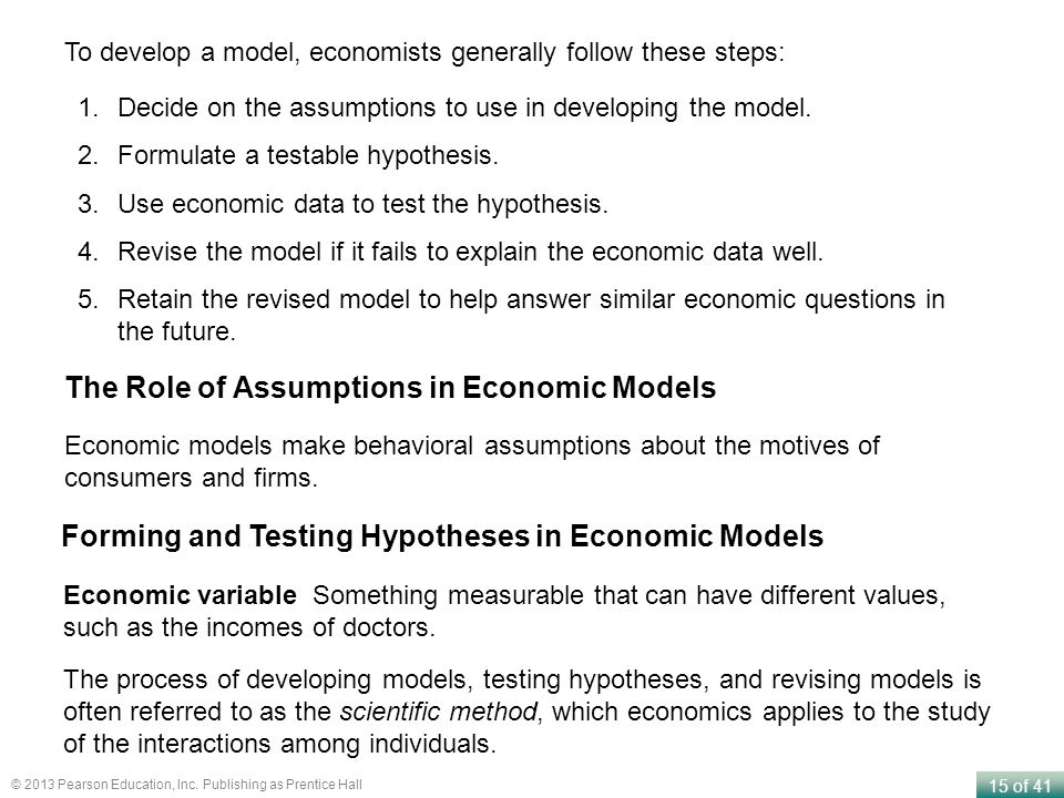 The Role of Assumptions in Economic Models