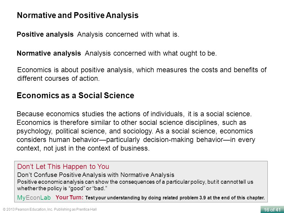 Normative and Positive Analysis