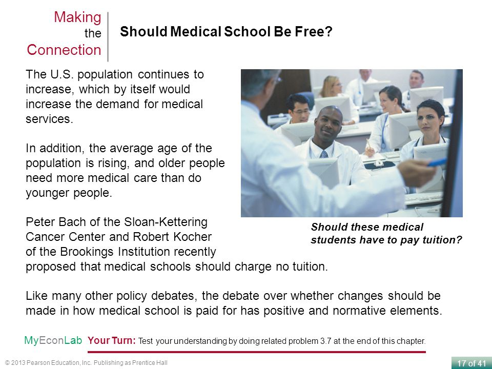 Making the Connection Should Medical School Be Free