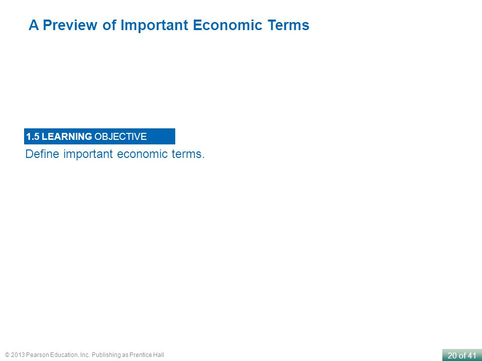 A Preview of Important Economic Terms