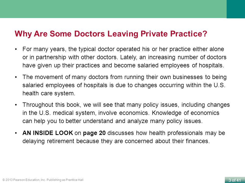 Why Are Some Doctors Leaving Private Practice