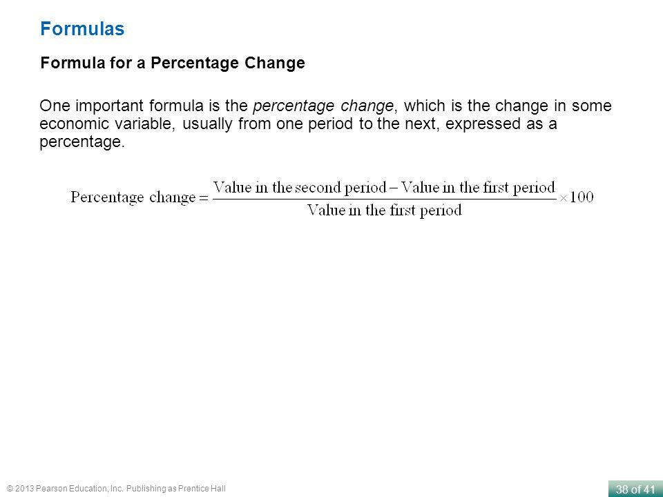 Formulas Formula for a Percentage Change