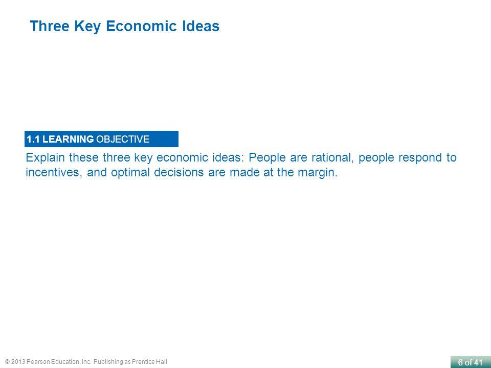 Three Key Economic Ideas