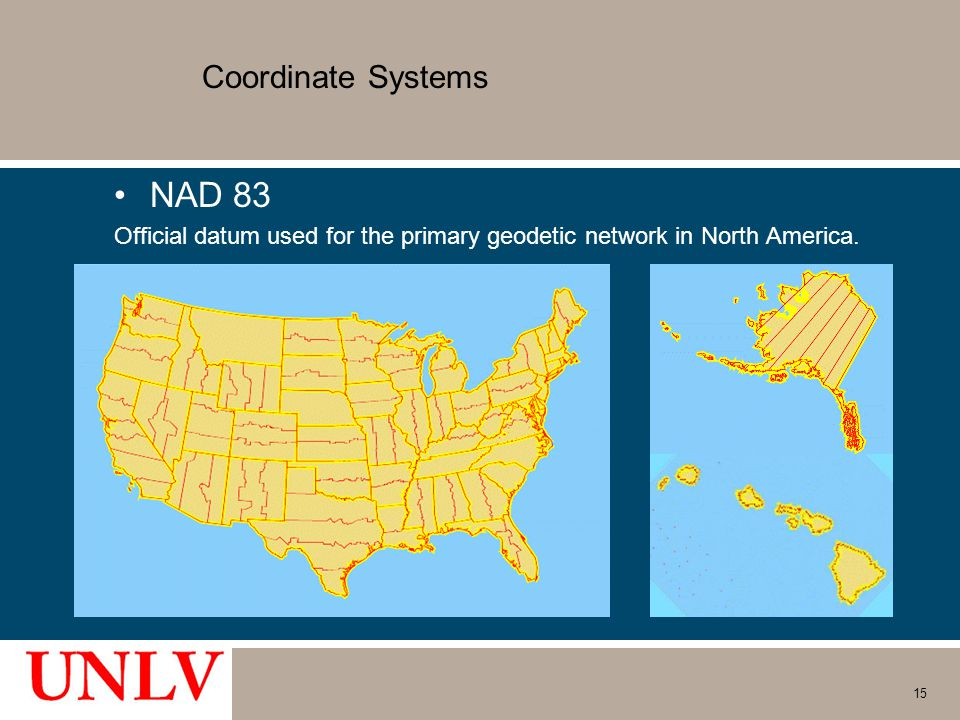 NAD 83 Coordinate Systems