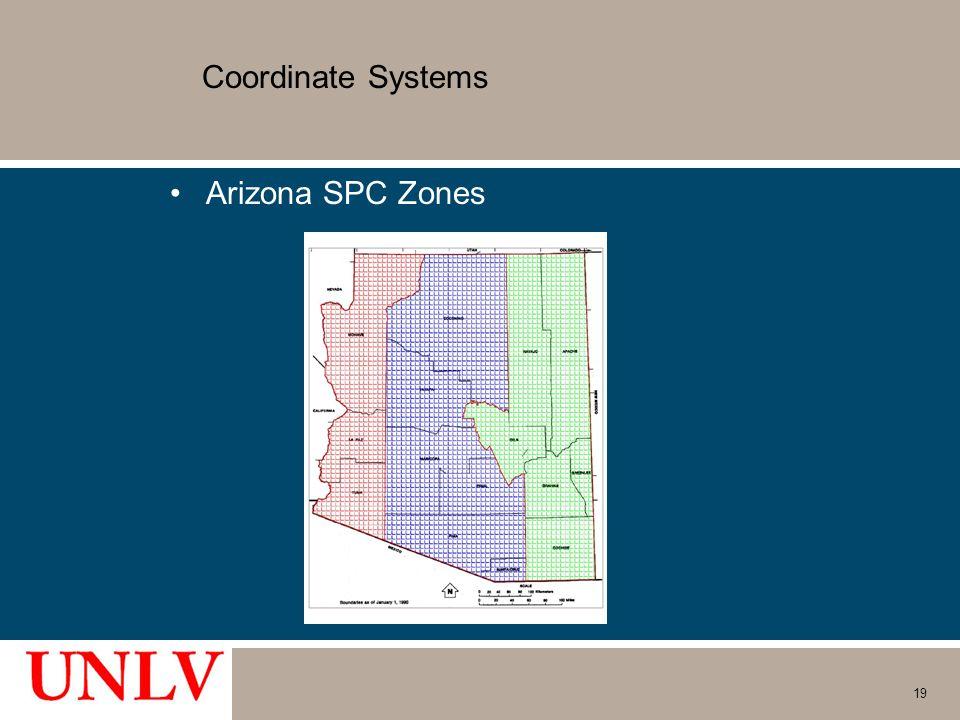 Coordinate Systems Arizona SPC Zones