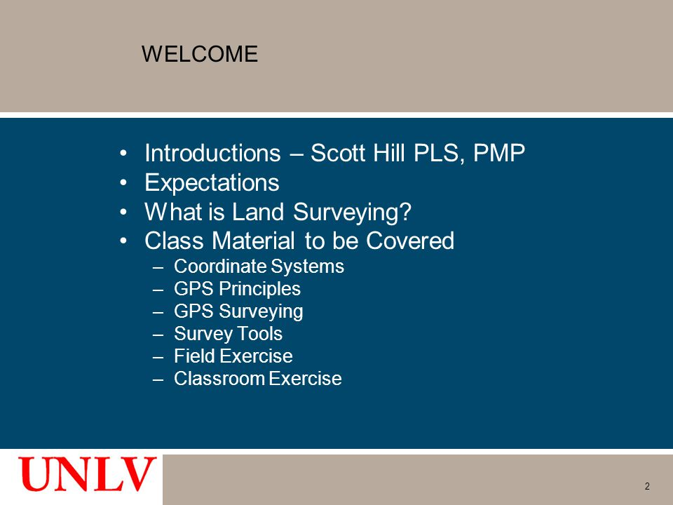 Introductions – Scott Hill PLS, PMP Expectations