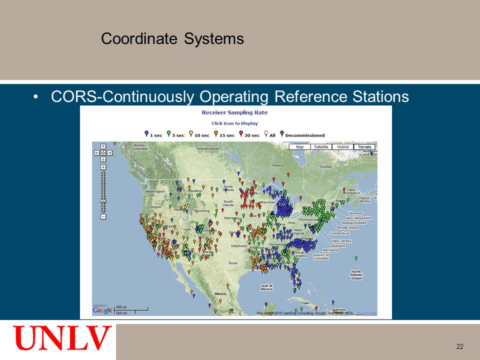 Coordinate Systems CORS-Continuously Operating Reference Stations