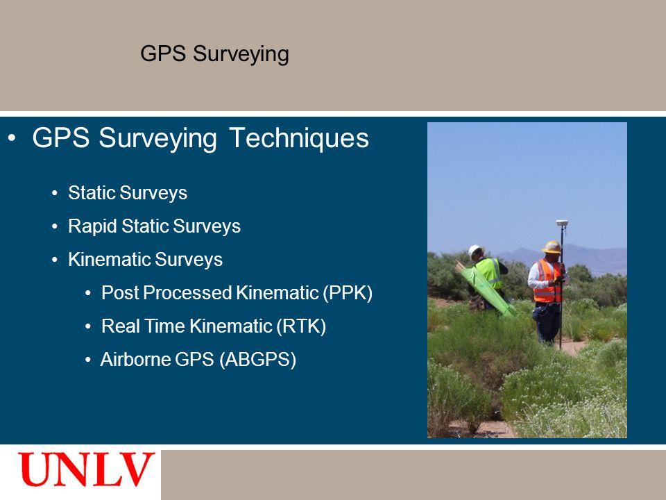 GPS Surveying Techniques