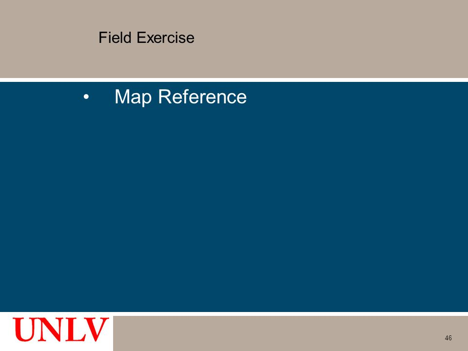 Field Exercise Map Reference