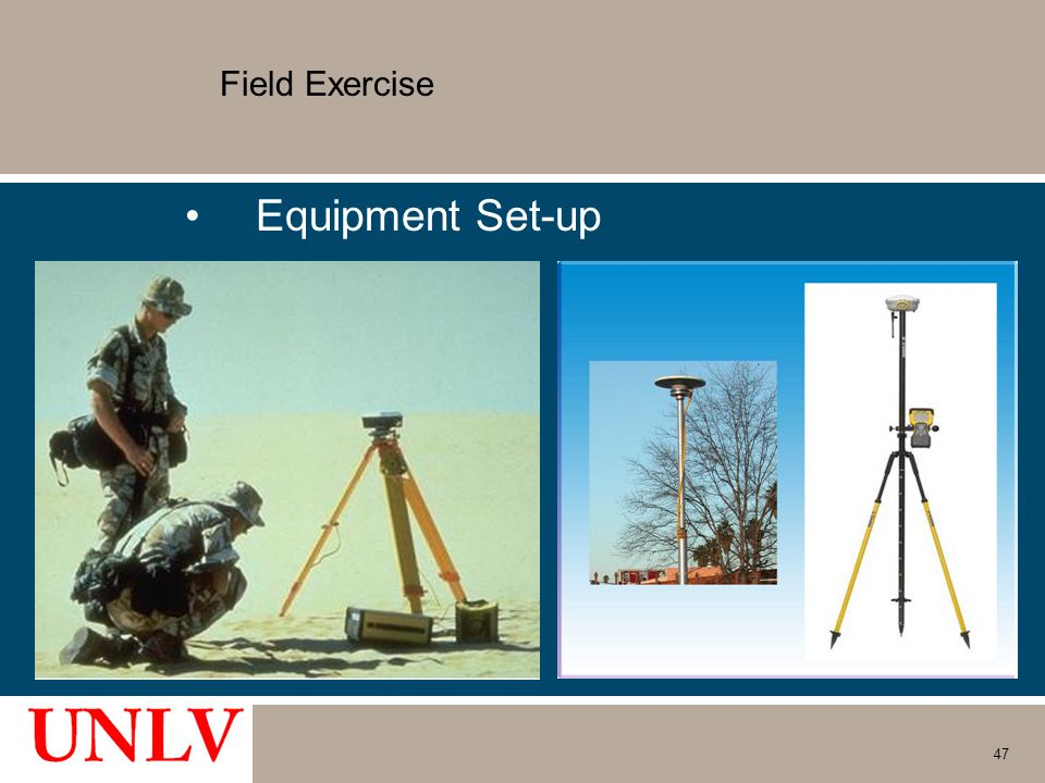Field Exercise Equipment Set-up