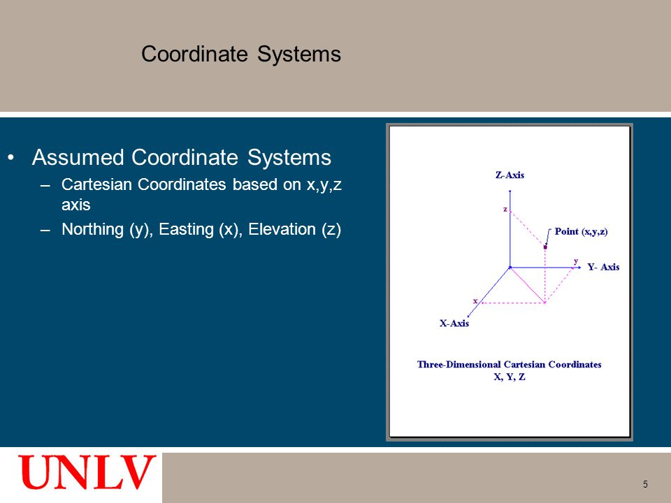 Assumed Coordinate Systems