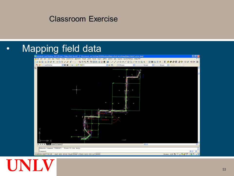 Classroom Exercise Mapping field data